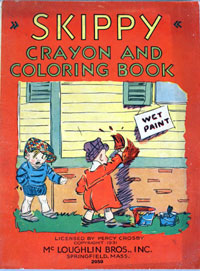 Skippy Crayon And Coloring Book by Artwork by the strips creator Percy Crosby